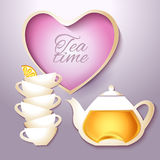 Cof tea and teapot Stock Photography