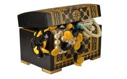 Cofanetto con gioielli Fotografie Stock