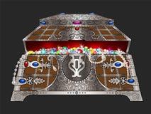 Cofanetto con i gioielli illustrazione vettoriale