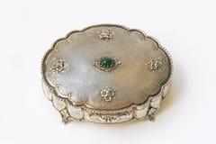 Cofanetto d'argento dei monili fotografia stock libera da diritti