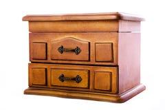 Cofanetto di legno per gioielli fotografie stock libere da diritti