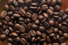 Cofe beans. Close up of coffee beans Stock Photos