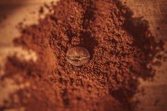 Cofee. Bean on ground stock photos