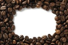Cofee beans. Frame,coffee beans on white background Stock Photos