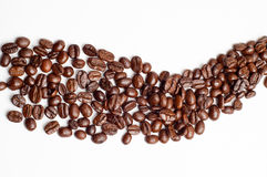 Cofee beans road Royalty Free Stock Image