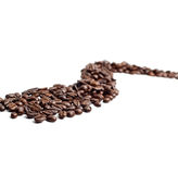 Cofee beans road Stock Photo
