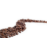 Cofee beans road Royalty Free Stock Photos