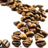 Cofee beans trace Royalty Free Stock Images