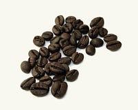 Cofee beans. On the white background Stock Photos