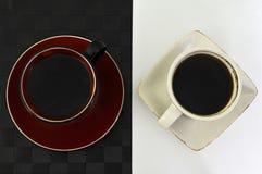Cofee blanco y negro Fotografía de archivo libre de regalías