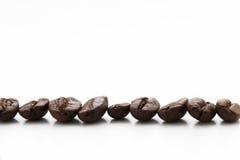 Cofee Bohnen caff? Kaffee getrennt auf Weiß Stockbilder