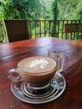 Cofee in bos royalty-vrije stock foto's