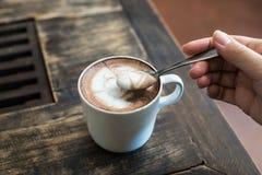 Cofee con il cucchiaio Fotografie Stock Libere da Diritti