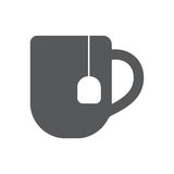Cofee cup icon flat. Vector illustration symbol and bonus pictogram Royalty Free Stock Photos