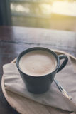 Cofee cup on table vintage color Royalty Free Stock Image