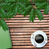 Cofee cup on wooden background Stock Photos