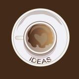 Cofee de la idea Fotografía de archivo libre de regalías