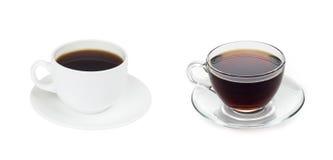 Cofee della tazza con tè Immagine Stock