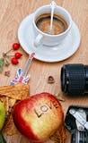 Cofee do outono em Londres Imagens de Stock Royalty Free