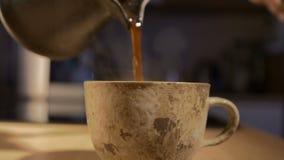 Cofee en grano y máquina almacen de video