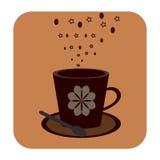 Cofee filiżanki ikona Fotografia Stock