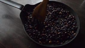 Cofee Fresh Brewed Stir stock video footage