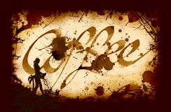 Cofee Kalligraphie Stockfoto