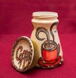 Cofee Kanister gemalt Lizenzfreie Stockbilder
