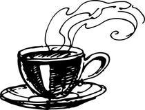 Cofee kopp också vektor för coreldrawillustration Arkivfoto