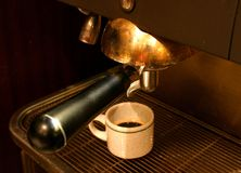 Cofee Machine. And Cup Royalty Free Stock Images
