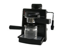 Cofee maker. Empty cofee machine isolated from background royalty free stock photography