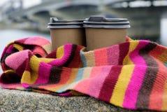 Cofee no lenço da cor Fotos de Stock Royalty Free