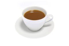 Cofee su priorità bassa bianca Fotografia Stock