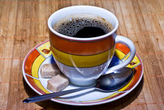 Cofee and sugar Stock Photo