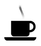 Cofee symbol. Symbol of a cup of cafe with aroma over white background Royalty Free Stock Photography