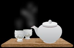 Cofee and tea cup Royalty Free Stock Images