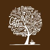 Cofee time. Art tree for your design. Vector illustration Royalty Free Stock Photo