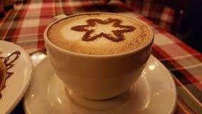 Cofee. Time cofee capuchino late Royalty Free Stock Image