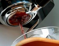 Cofee Tropfen Stockfoto