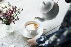 Cofee van de bedtijd stock afbeeldingen