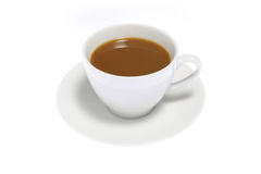 Cofee on White Background Stock Photography