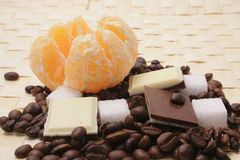Cofee With Chocolade Stock Images