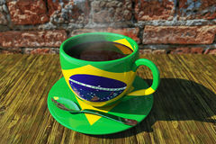 Coffee & World Cup football. Morning Cofee & World Cup football Royalty Free Stock Photography