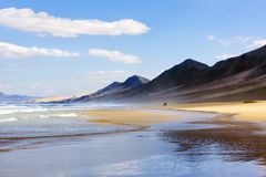 Cofete beach, Fuerteventura Royalty Free Stock Photo