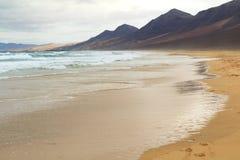 Cofete beach in Fuerteventura, Canary Islands. The famous Cofete beach in Fuerteventura, Canary Islands Royalty Free Stock Photos