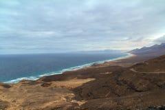 Cofete beach in Fuerteventura, Canary Islands. The famous Cofete beach in Fuerteventura, Canary Islands Stock Images