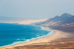 Cofete beach in Fuerteventura, Spain Royalty Free Stock Image