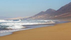 Cofete Beach Playa DE Cofete, Fuerteventura-eiland, Kanarie, Spanje stock footage