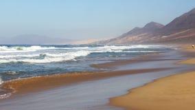 Cofete Beach Playa de Cofete, Fuerteventura-Insel, Kanarienvogel, Spanien stock footage