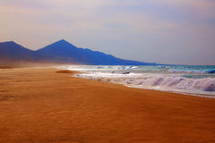 Cofete Fuerteventura beach at Canary Islands Stock Photography